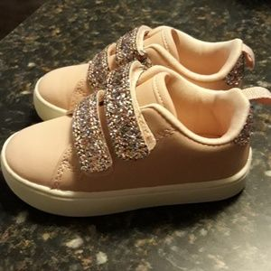 Carter pink with multi glitter sneakers